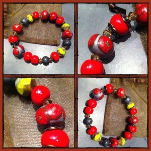 bracelet rouge desigual