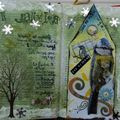 Altered book-oiseau