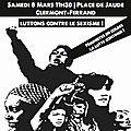 Rdv le 8 mars : rassemblement à 11h30 place de jaude