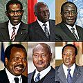 L'afrique, reine des records de longévités, avec plusieurs chefs d'etat au pouvoir depuis plus d'un quart de siècle