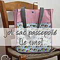 Diy - le joli sac passepoilé [tuto]