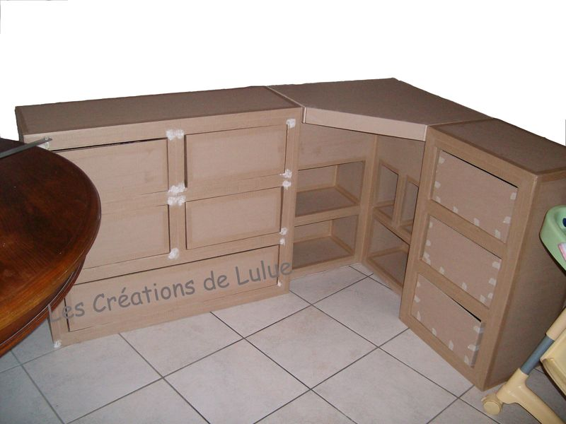Meuble t l les cr ations de lulue for Bureau coffre 3 en 1