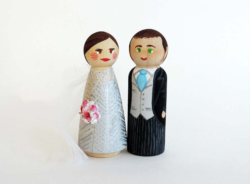 Cake toppers pour mariage Londonien