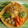 Aumonière de poulet et légumes