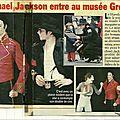 Michael jackson entre au musée grévin - 1997