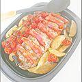 Filet mignon au chorizo, pommes de terre et tomates cerises