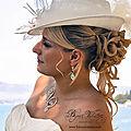 Boucles d'oreilles mariage céleste, avec feuille de verre irisé