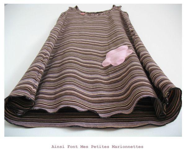 robe jersey rayée 3