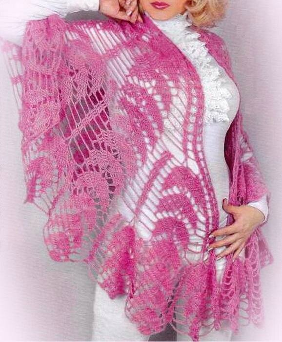 Crochet-Shawl Free-Pattern 12