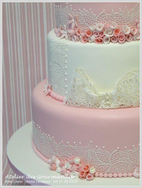 un beau gâteau de mariage pour mimi - atelier des gourmandises