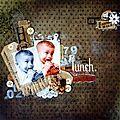 Page petit lunch et apperçut mini vintage