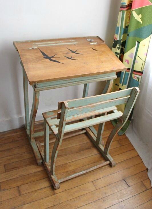 bureau-enfant-vintage