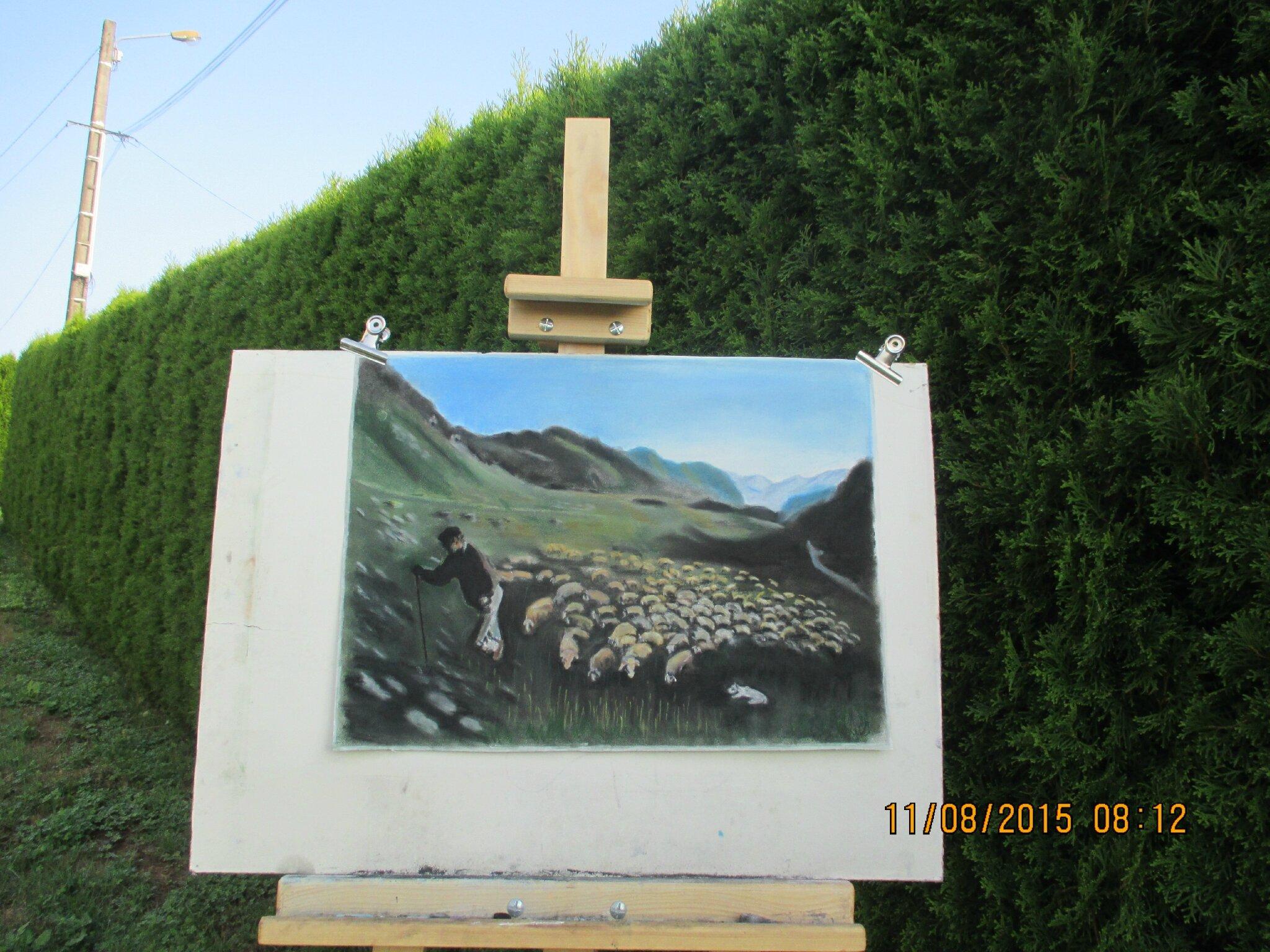 je compte mes moutons...mon dernier dessin;Bonne journée à vous tous et toutes,grosses bises♥
