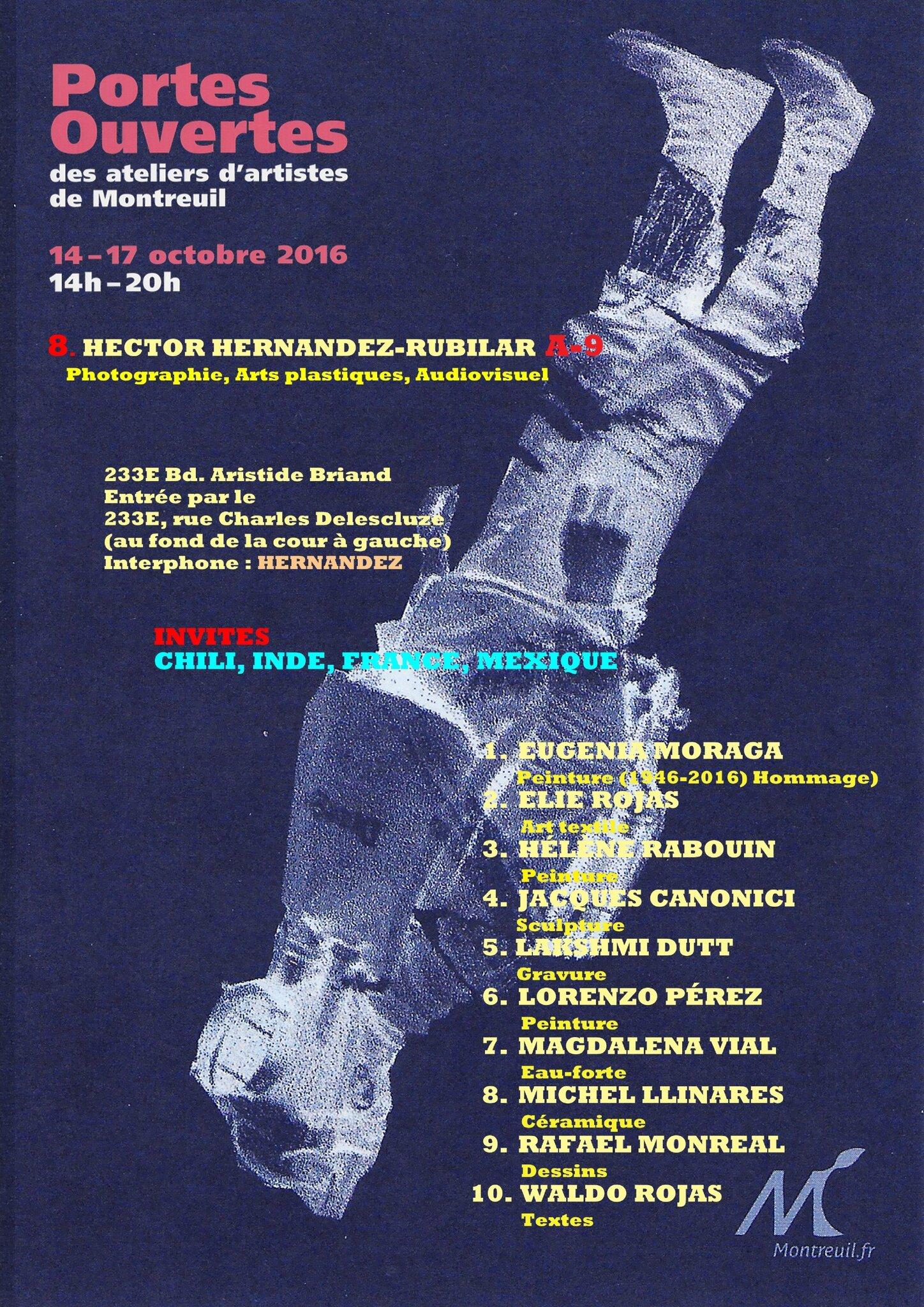 Jacques Canonici - Portes Ouvertes des Ateliers d'Artistes de Montreuil 14 au 17 octobre 2016
