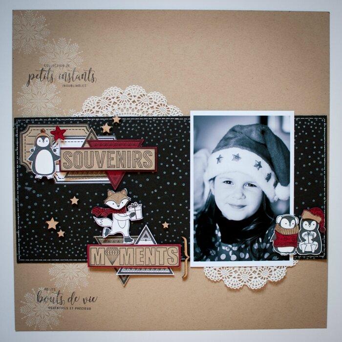 Découvrez deux pages de Steff avec la collection Christmas Team