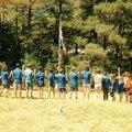 Fin des camps louveteaux jeannettes et scouts guides à colmars les alpes