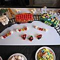 Gâteau d'anniversaire petit train