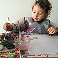 Mélanie et la peinture...