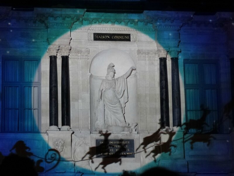 Projection Troyes Noel 2013