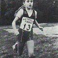 Christine Decker, Poussine, 1ère des deux premiers cross