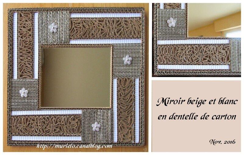 Miroir beige et blanc