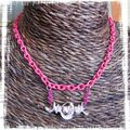 Collier chaine rose fluo (CC19)