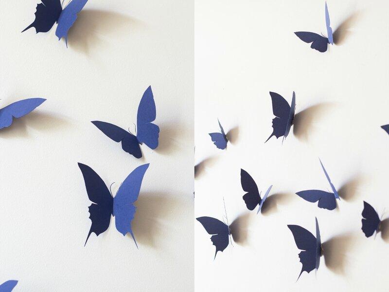 Envolée papillons bleus deco bucolique TRENDY LITTLE