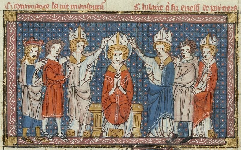 Hilarius Pictaviensis (Saint Hilaire de Poitiers) évêque de Pictavium (Poitiers)
