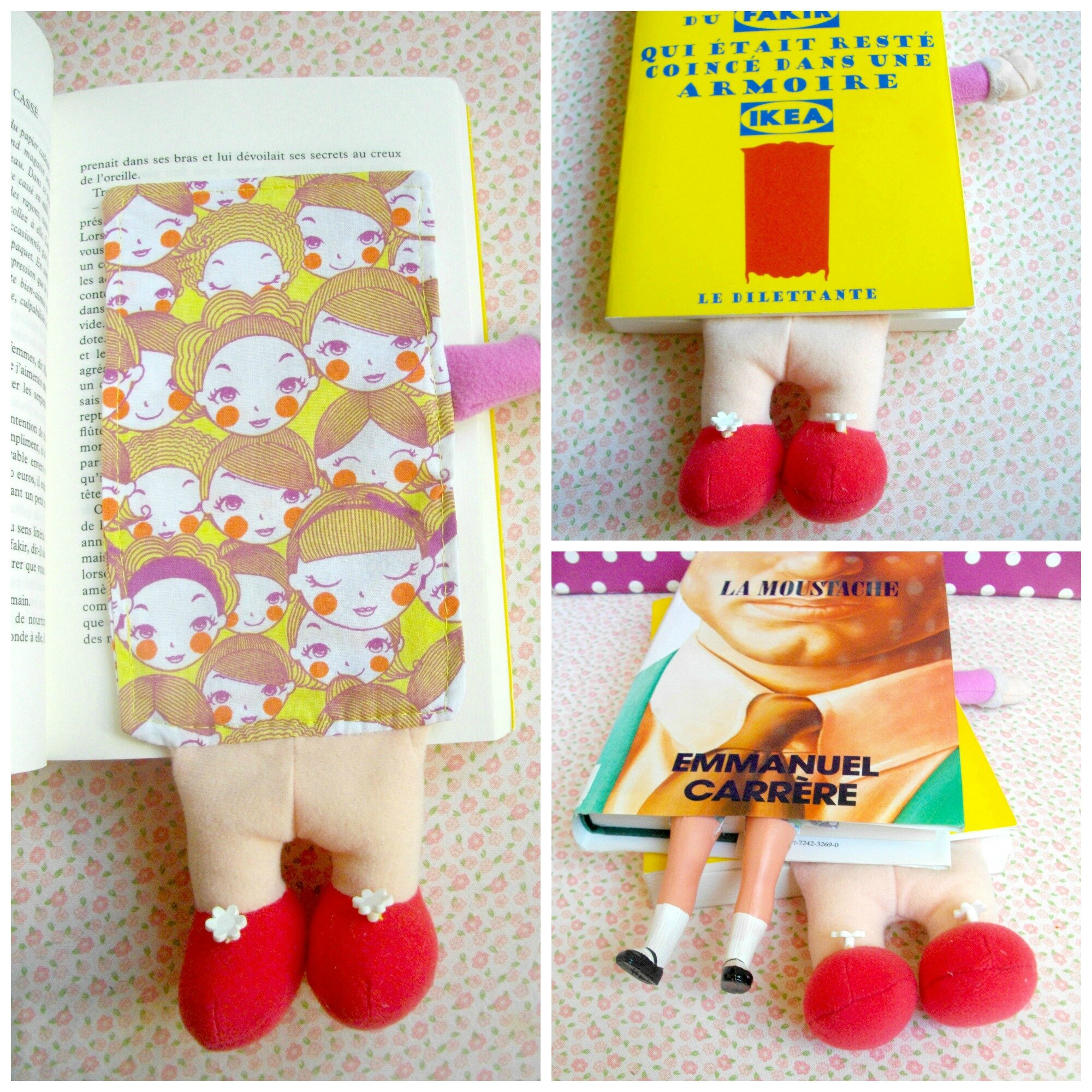 Diy Marque Pages Recycl Une Fille Frange