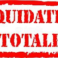 Liquidation totale - 11 et 12 septembre 2015