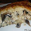 ♥ lasagnes au poulet et aux champignons