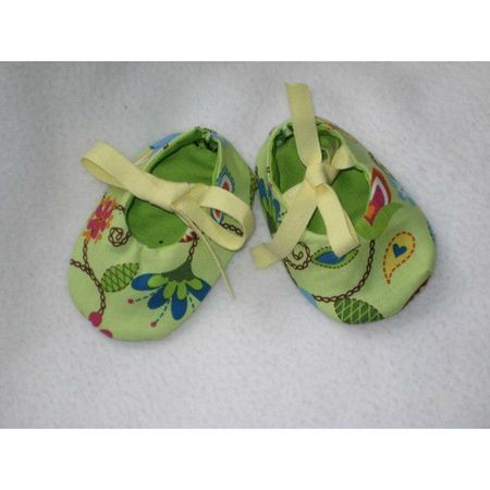 chaussons-bio-lotus-verts-0-3-mois