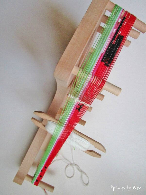 pimptalife inkle loom beads pasteque