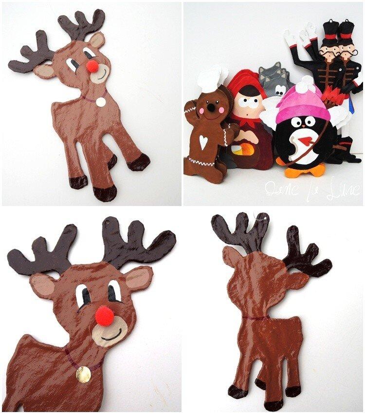 j- Le rêne du traineau du père Noël