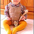 Barboteuse tricotée et betsy chéri