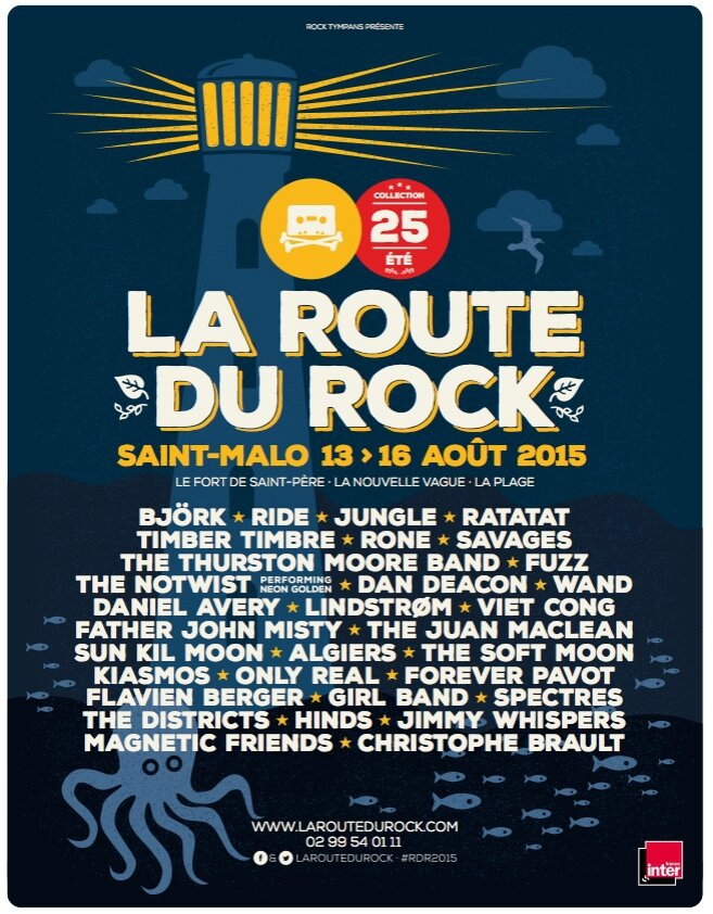 programmation de r ve pour les 25 ans du festival la route du rock saint malo 13 au 16 ao t. Black Bedroom Furniture Sets. Home Design Ideas