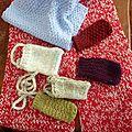 Les collectes du tricot solidaire en septembre, octobre et novembre 2012 : les accessoires en laine