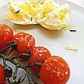 Tomates cerises rôties / mozza citron