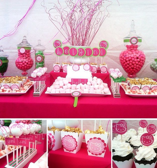 Fabuleux SWEET TABLE- DECORATIONS POUR TABLE GOURMANDE HELLO KITTY - Fête  BB62