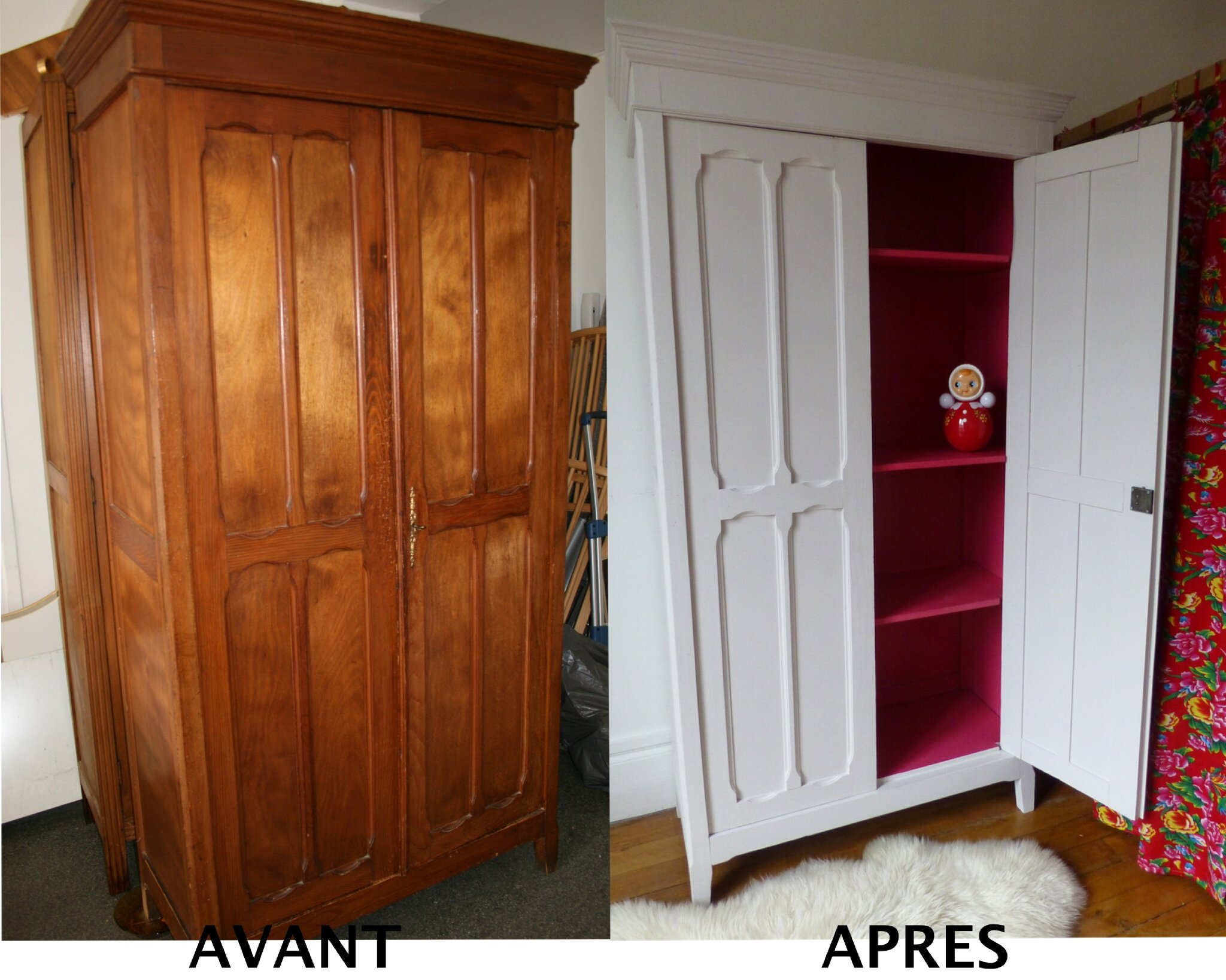 mes r alisations de relooking sur les meubles avant. Black Bedroom Furniture Sets. Home Design Ideas
