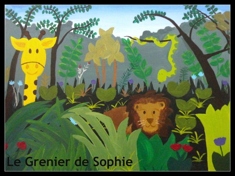 jungle le grenier de sophie peinture d coration pour enfants. Black Bedroom Furniture Sets. Home Design Ideas