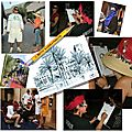 Maroc - caricaturiste franaise  Marrakech