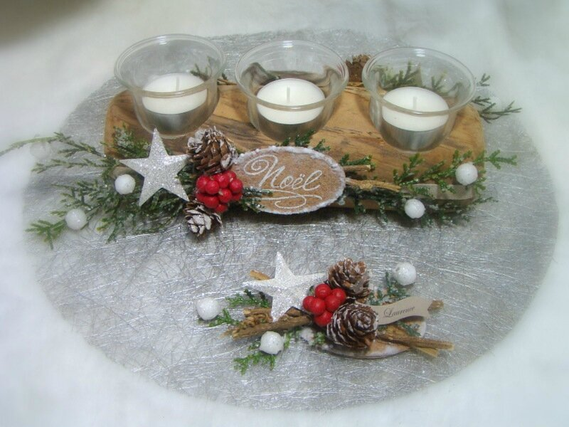 Decoration Buche De Noel En Bois # Buche De Bois Décorative