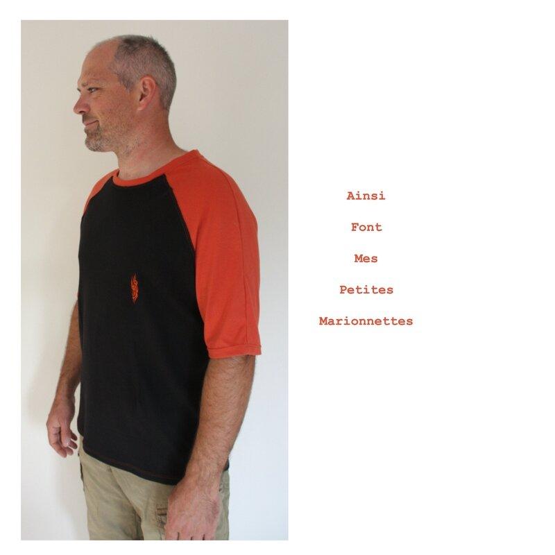 tee shirt orange tribal charly 5