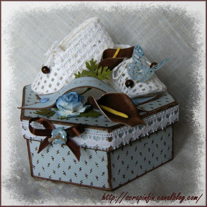 boite naissance octogonale souvenirs scrapinfini de. Black Bedroom Furniture Sets. Home Design Ideas