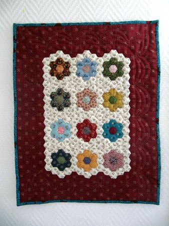 MINI QUILT HEXAGONES 027