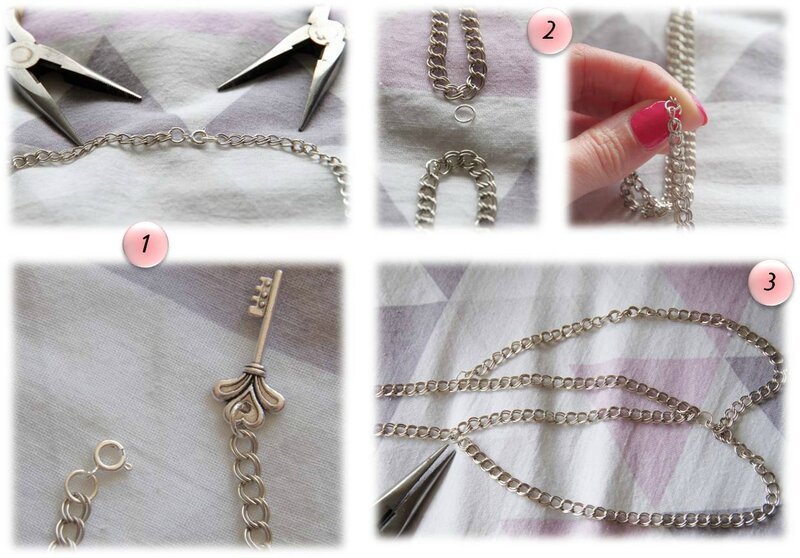 DIY collier col claudine chaine
