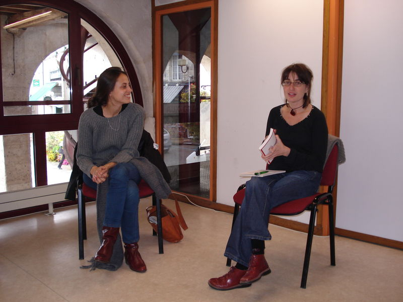 Discussion avec Anne Bérest à la Halle aux grains (1)