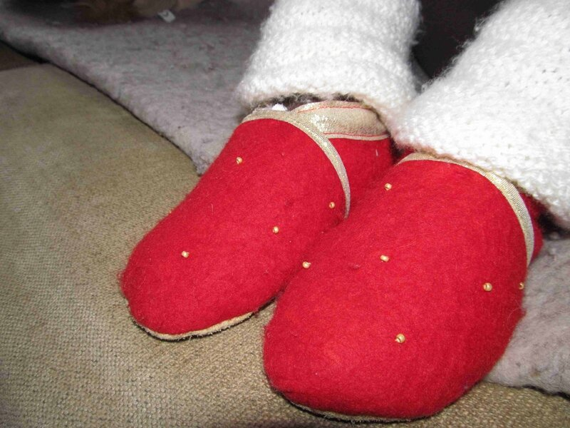 chaussons mathilde rouge1
