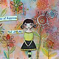 Une grande page d'art journal pour le plaisir / large art journal page for fun